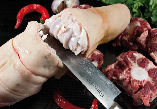 разделка говяжьих ножек и хвоста для хаша