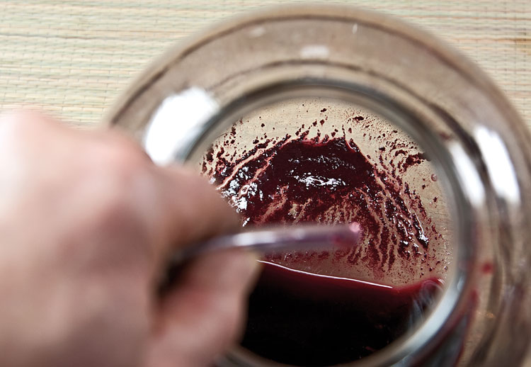 исследование осадка сока черноплодной рябины