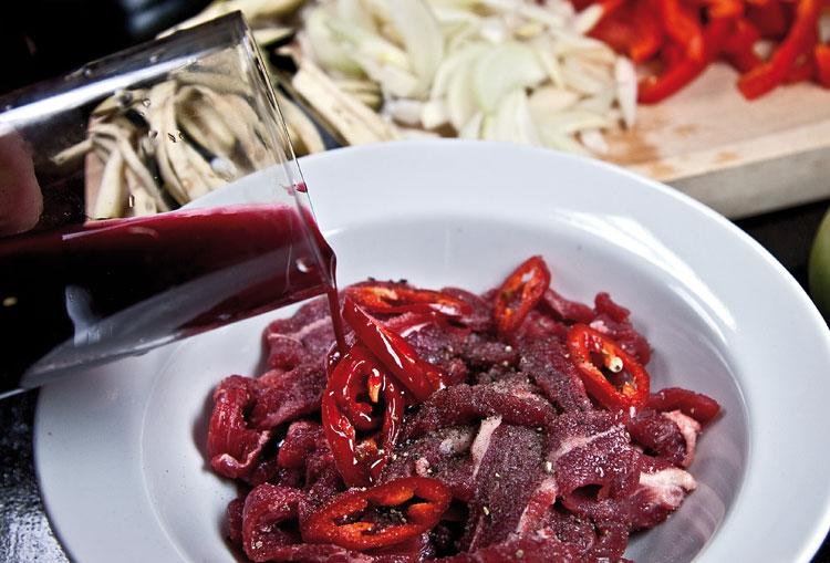 маринование мяса для подливы