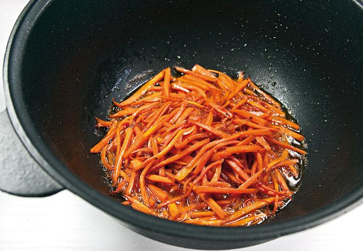 степень обжарки моркови при приготовлении машкичири