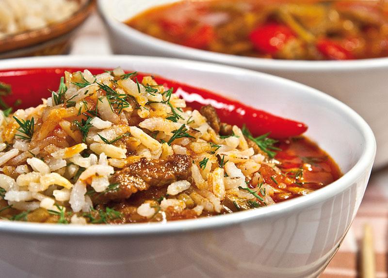 батта, ганфан или лагман с рисом