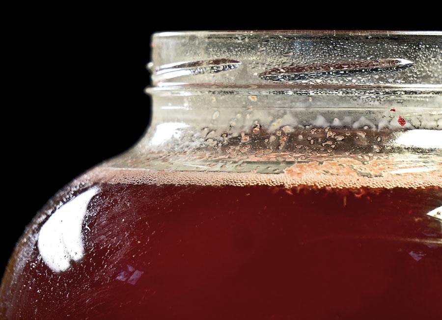 повторное брожение сока из красной смородины