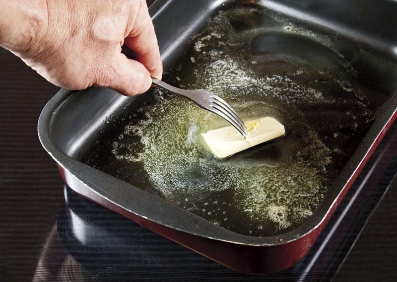 роспуск сливочного масла для одновременного приготовления картофеля
